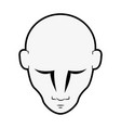 man head isolated vector image vector image