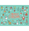 Merry Christmas greeting card poster vector image vector image