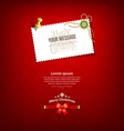 Merry christmas paper white card message vector image