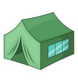 military tent icon cartoon style vector image vector image