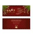 New Year 2017 Merry Christmas and Happy New Year vector image vector image