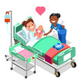 nurse with baby doctor or nurse patient isometric vector image vector image