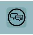 Pale blue chatting sign vector image