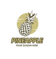 pineapple fruit emblem vector image