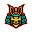 samurai warrior head mascot vector image