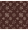 Seamless Christmas dark pattern with drawn vector image