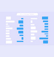 set of messages bubbles in flat design chat icons vector image