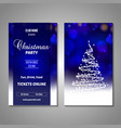 set of stylized christmas tree invitation flyer vector image