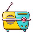 small portable radio icon cartoon style vector image