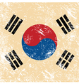 South korea retro flag vector image