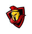 sparta sport gaming mascot logo template vector image