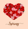 spring season holiday flower heart poster vector image vector image