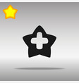 star cross medicine black icon button logo symbol vector image
