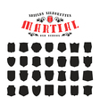 stock set shields silhouettes vector image vector image