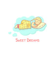sweet dreams banner template with adorable vector image vector image