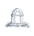 tombstone unmarked vintage grave gravestone vector image vector image