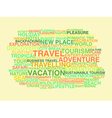 Travelling Word cloud vector image vector image