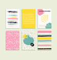 trendy set of brush strokes card vector image vector image