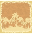 Tropical palms trees and grass silhouettes vector image vector image