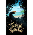 tropical paradise poster vector image