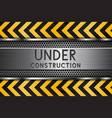 under construction background metal texture with vector image