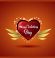 valentine holiday background with shining heart vector image vector image