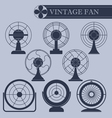 Vintage fan I part vector image vector image