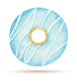 Watercolor donuts vector image vector image