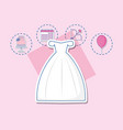 wedding celebration card with married dress vector image vector image