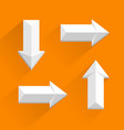 white arrows different directions vector image vector image