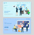 worldwide company states union webpage vector image