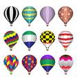 hot air balloons flat icons vector image