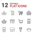 12 supermarket icons vector image vector image