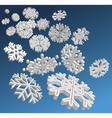 3d snowflakes vector image vector image