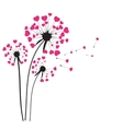 Abstract Dandelion Background vector image vector image