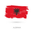 albania colorful brush strokes painted national vector image vector image
