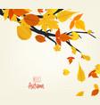an autumn design vector image vector image