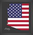 arizona map with american national flag vector image vector image