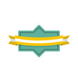 badge ribbon icon flat style vector image