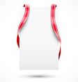 Blank tag with ribbon vector image