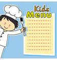 boy chef card vector image vector image