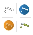 Chemical experiment icons vector image vector image