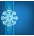 Christmas background and snowflakes EPS8 vector image vector image