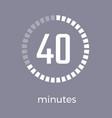 closeup digital timer on vector image vector image