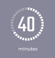 closeup of digital timer on vector image