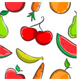 collection of fruit fresh pattern vector image vector image