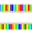 colored pencils lie on a white background vector image