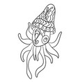 coloring page with calmary animal in ornaments vector image vector image