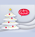 decorated fir tree vector image vector image