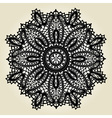 Delicate lace doily pattern vector image